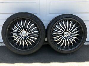 Borghini 22 Wheels 4 Staggered Tires 5x115 Challenger Dodge Jeep Chrysler