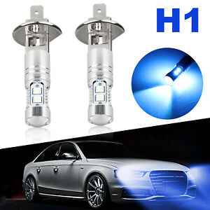 2x 8000k H1 100w High Power Cree Smd Led Headlight High Low Beam Fog Light Bulbs