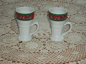 Vintage Coca-Cola Mugs (Set of 2)