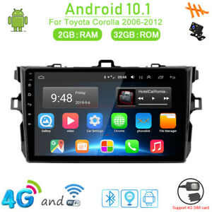 32gb Android 10 1 4g Car Dvd Gps Navi Radio Player For Toyota Corolla 2006 2012