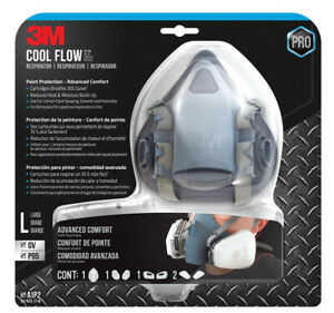 3m Half Face Multi purpose Respirator Cool Flow Size Large Fast Us Shipping