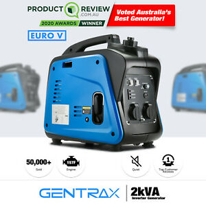 New Gentrax Inverter Generator 2kw Max 1 7kw Rated Pure Sine Portable Camping
