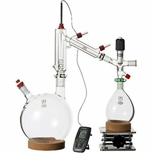 Clear5 Ai L Short Path Distillation Kit With Ptfe Adapters amp Digital Glass