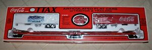 K-LINE TTAX FLAT CARS/TRACTOR-TRAILERS COCA COLA NEW