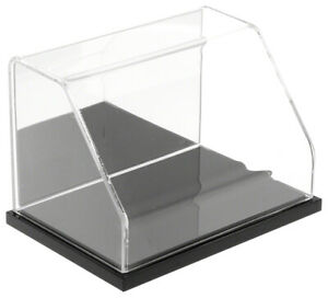 Plymor Acrylic Slant Front Case W Black Base Mirror Back 6 W X 4 D X 4 H