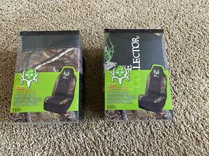 Nib Michael Waddell Bone Collector Realtree Camo Universal Seat Cover Set Of 2