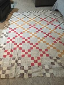 Quilt Top Vintage Unfinished Size 83x69 Good Condition