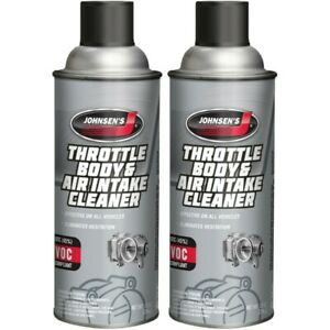 Johnsen Throttle Body Air Intake Cleaner Fuel Injected More 10oz 2 Pack