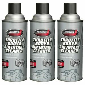 Johnsen Throttle Body Air Intake Cleaner Fuel Injected More 10oz 3 Pack