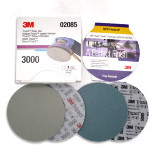 6 Hook Loop Discs Sanding Paper 302085 30662 3000 5000 Grit For 3m Trizact Foam
