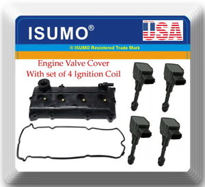 Engine Valve Cover 4 Ignition Coil Fits Nissan Altima Sentra 2002 2006 2 5l