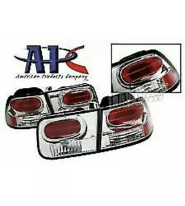 96 00 Honda Civic 2 Door Coupe Clear Euro Style Tail Brake Lights