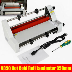 V350 350mm Hot Cold Roll Laminator Digital Display With 4 Rollers For Office