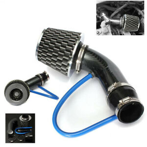Car Cold Air Intake Filter Intake Alumimum Induction Kit Pipe Hose Carbon Fiber