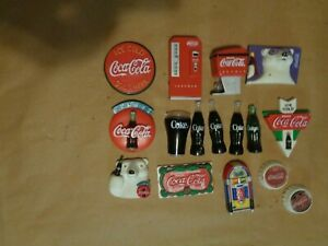 Lot of 14 Official COCA COLA Refrigerator Magnets