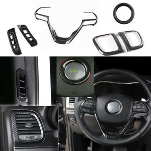 6pcs Abs Carbon Fiber Interior Trim Cover For Jeep Grand Cherokee 2014 2018