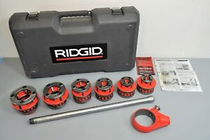 Ridgid 12 r 1 2 2 Npt Exposed Ratchet Pipe Threader Set Plumbing Tools 36475