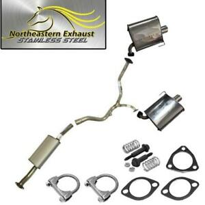Stainless Steel Resonator Muffler Exhaust System Kit Fits 2006 2009 Legacy 2 5l