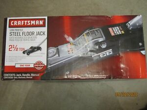 New Craftsman Low Profile 2 1 2 Ton Steel Jack Model 50165