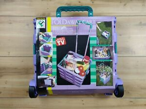 Triton Fold Away Portable Foldable Shopping Cart 2 wheel Rolling Collapsible Nos
