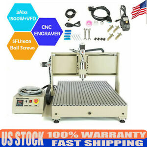 3 Axis 6090 Cnc Router Engraver Woodworking Advertising Milling Machine 1500w