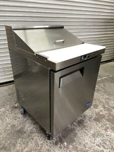 1 Door 28 Refrigerated Sandwich Prep Table Cooler Nsf Atosa Msf8301gr 4138