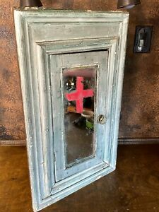 Antique 18th Century Medical Corner Cabinet Vintage Barber Tattoo Bathroom Shop