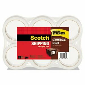 Scotch Grade Packaging Tape 1 88 X 54 6yds Clear 6 Rolls Per Pack mmm37506