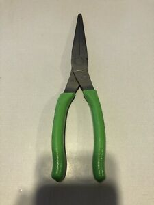 New Snap on Tools Usa 9 Green Soft Grip Needle Nose Pliers 97acf