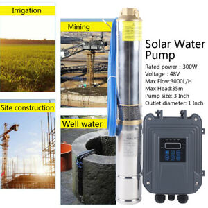 3 Solar Submersible Pump High Pressure Solar Water Pump 48v mppt Controller Kit