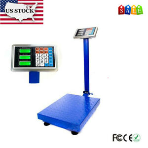 300kg 660lbs Lcd Digital Scale Personal Floor Postal Platform Weighting Scales