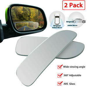 2x Universal Car Auto 360 Wide Angle Convex Rear Side View Blind Spot Mirror Us