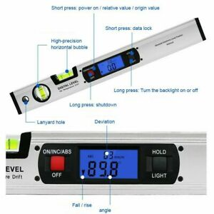 400mm Level Ruler Digital Lcd Non magnetic Spirit Level Ruler With Inclinometer
