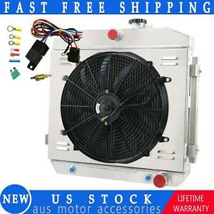 4 Row Radiator Shroud Fan Relay For 1955 1957 Chevy Bel Air Del Ray Support V8