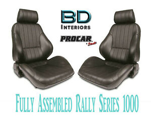 Full Seats 80 1000 51 Reclining Black Vinyl For 1997 2004 Ford Crown Victoria