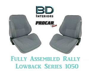 Full Seats 80 1050 58 Lowback Gray Velour Seats For 1997 2004 Crown Victoria