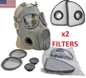 Size 3 Large Xl Full Face Military M10 Nbc Gas Mask Respirator extra X2 Filters