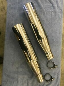 Megs Race Tips Mufflers Polished Stainless Steel Fit 2 1 4 Pipe
