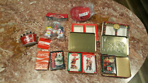 Vintage Coca Cola Christmas items and more. NEW.