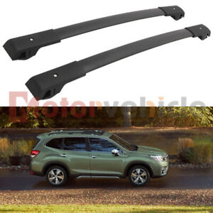 Us Stock Black Cross Bar For Subaru Forester 2019 2021 Roof Rack Rail Aluminum
