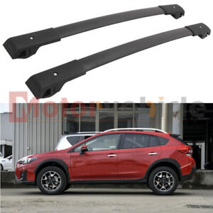2 Pcs Us Stock Black Cross Bars For Subaru Xv Crosstrek 2018 2021 Roof Rack Rail
