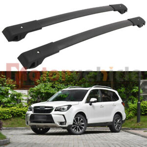 Us Stock Black Cross Bar For Subaru Forester 2014 2018 Roof Rack Rail Aluminum