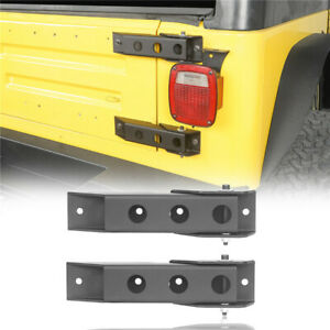 Pair Tailgate Hinge Set Replaced Textured Black For Jeep Wrangler Tj 1997 2006