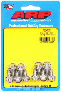 Arp 400 1501 Stainless Timing Cover Bolts Chevy Small Block Big Block 12 Point