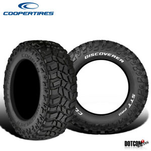 2 X New Cooper Discoverer Stt Pro 295 55r20 123q Off road Traction Tire
