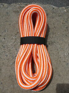 New England 16 Strand Hi vee Arborist Rope Tree Climbing Line 1 2 X 29 Orange