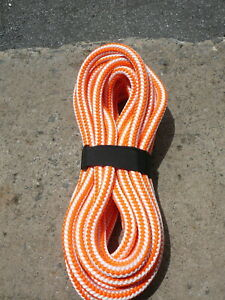 New England 16 Strand Hi vee Arborist Rope Tree Climbing Line 1 2 X 30 Orange
