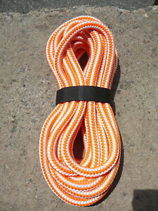 New England 16 Strand Hi vee Arborist Rope Tree Climbing Line 1 2 X 31 Orange