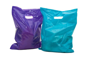 Merchandise Bags 16x18 100 Purple Teal 16x18 Extra Thick Large Retail Shopping