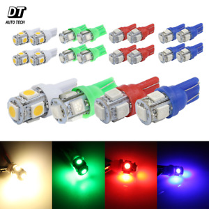 16x T10 921 Warm White Green Red Blue Led License Plate Interior Smd Light Bulbs